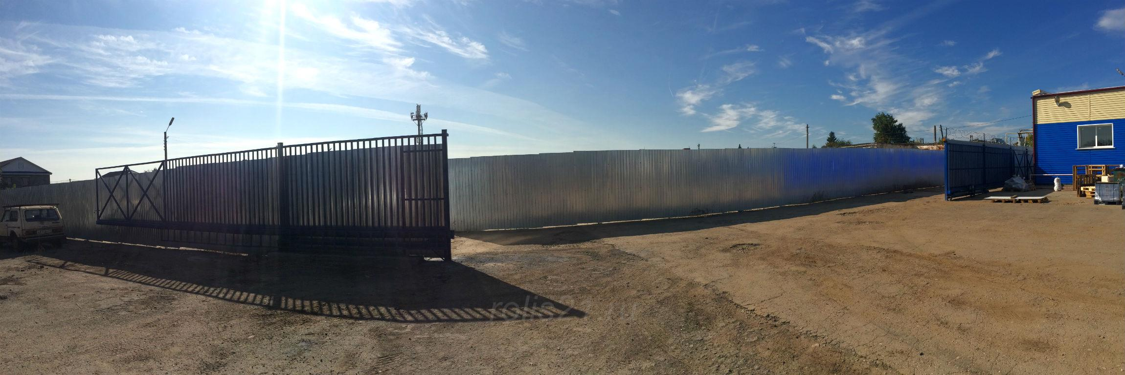 Откатные ворота на широкий проём