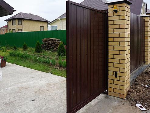 Откатные ворота 9