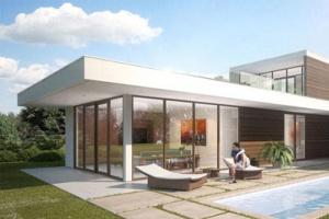 Новый проект в портфолио: коттедж в стиле лофт на берегу моря