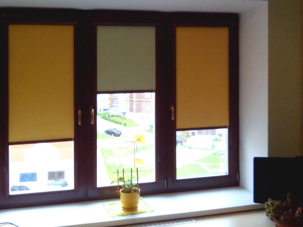 Рулонные шторы с чередованием цвета