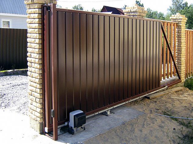 Автоматические откатные ворота: фото - 4
