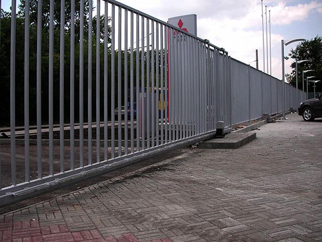 Промышленные откатные ворота: фото - 4