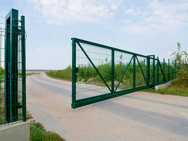 Промышленные откатные ворота: фото - 5