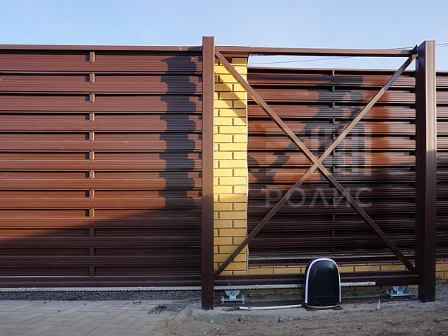 Автоматические откатные ворота: фото - 2
