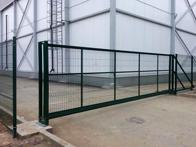 Промышленные откатные ворота: фото - 2